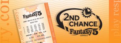 2nd Chance Fantasy 5, cblottery ticket