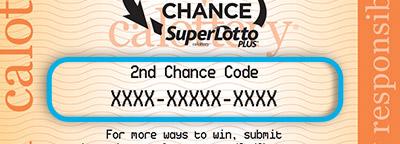 Superlotto Plus 2nd Chance code on ticket