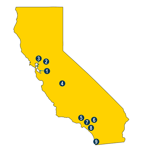Map of District Offices