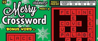 Merry Crossword Scratcher