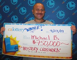 Michael Banks winner of $750,000