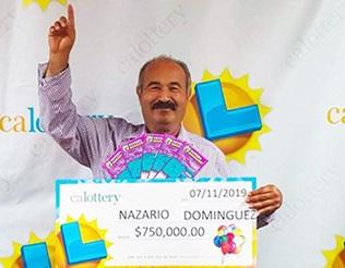 Nazario Dominguez winner of $750,000