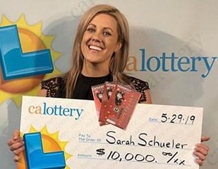 Sarah from Van Nuys won $10,000